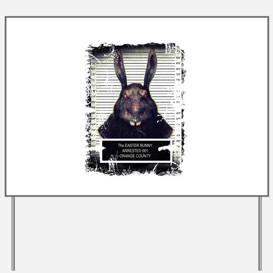 Evil Easter Bunny Rabbit SOLO Yard Sign