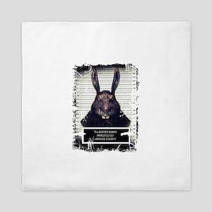 Evil Easter Bunny Rabbit SOLO Queen Duvet