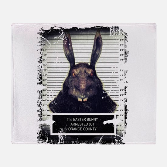 Evil Easter Bunny Rabbit SOLO Throw Blanket