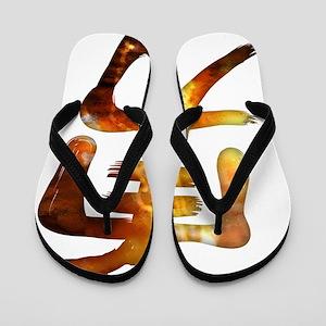 Kanji - brave Flip Flops