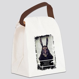 Evil Easter Bunny Rabbit SOLO Canvas Lunch Bag