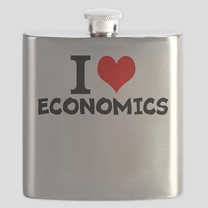 I Love Economics Flask