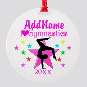 NUMBER 1 GYMNAST Round Ornament