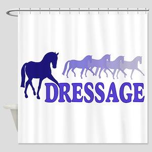 Dressage Horses (blue/purple) Shower Curtain