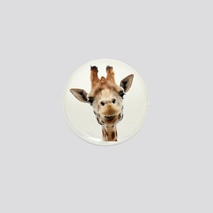 Funny Smiling Giraffe Mini Button
