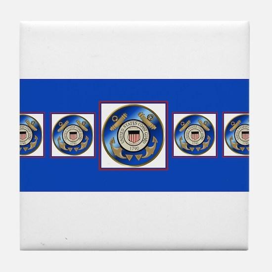 CoastGuardScarf2 Tile Coaster