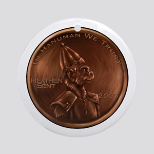 Hanuman Heathen Cent Ornament (Round)