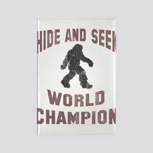 Bigfoot Hide and Seek Rectangle Magnet