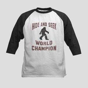 Bigfoot Hide and Seek Kids Baseball Jersey