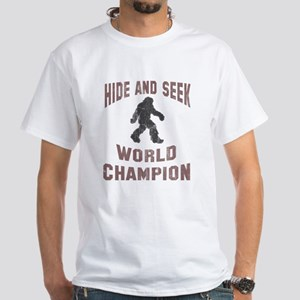 Bigfoot Hide and Seek White T-Shirt