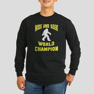 Bigfoot Hide and Seek Long Sleeve Dark T-Shirt