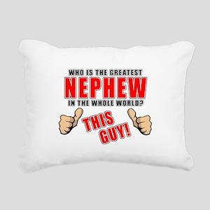 GREATEST NEPHEW Rectangular Canvas Pillow