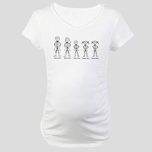 Super Family 1 Boy 2 Girls Maternity T-Shirt