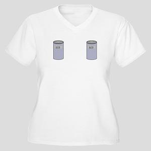 BEER BOOBS Women's Plus Size V-Neck T-Shirt