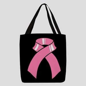 Breast cancer pink ribbon Polyester Tote Bag