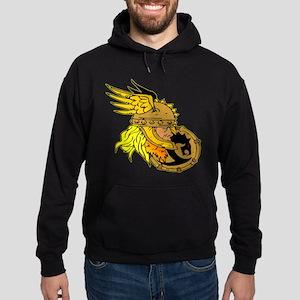 Viking Warrior & Shield Hoodie (dark)