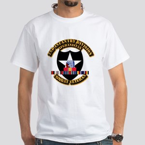 Army - 2nd ID w Afghan Svc White T-Shirt