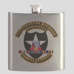 Army - 2nd ID w Afghan Svc Flask