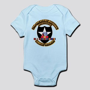 Army - 2nd ID w Afghan Svc Infant Bodysuit