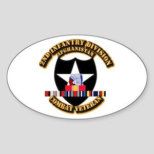 Army - 2nd ID w Afghan Svc Sticker (Oval)