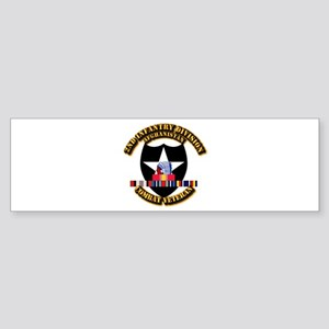 Army - 2nd ID w Afghan Svc Sticker (Bumper)