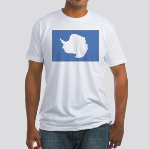 Antarctic flag Fitted T-Shirt