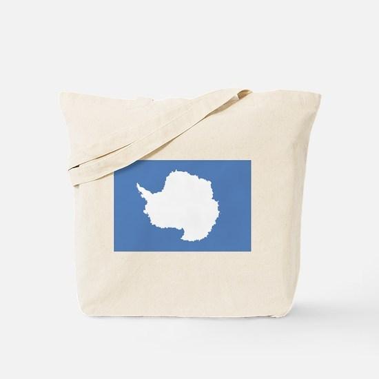 Antarctic flag Tote Bag