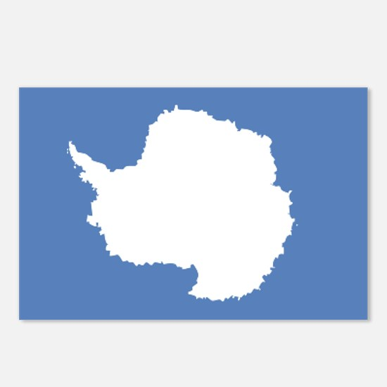 Antarctic flag Postcards (Package of 8)