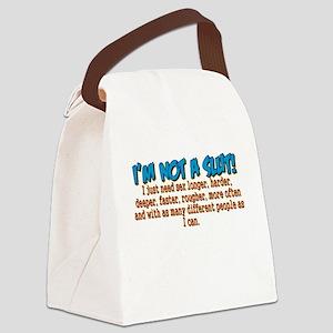 Not A Slut Canvas Lunch Bag
