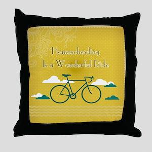 Homeschooling Wonderful Ride Throw Pillow
