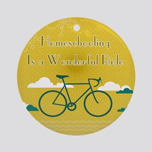 Homeschooling Wonderful Ride Ornament (Round)