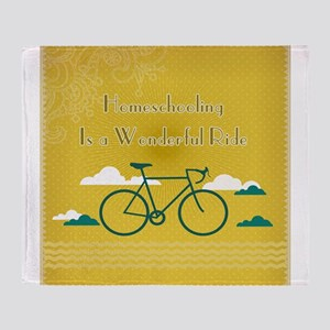 Homeschooling Wonderful Ride Throw Blanket