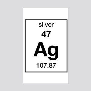 Periodic table silver stickers cafepress silver rectangle sticker urtaz Gallery