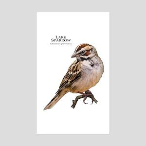 Lark Sparrow Sticker (Rectangle)