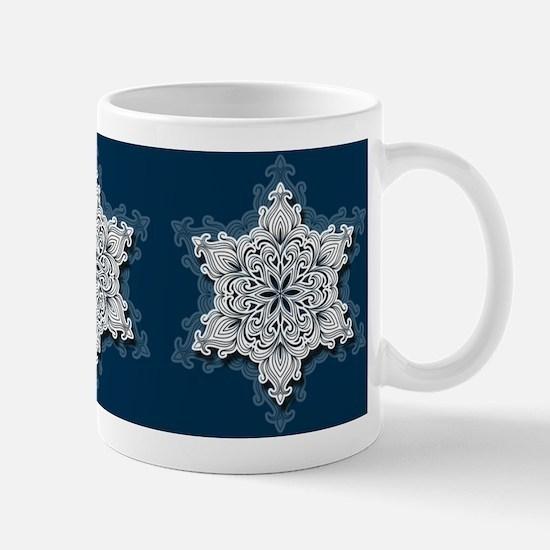 Lacy Snowflake Mugs