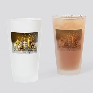 Gold Christmas Drinking Glass
