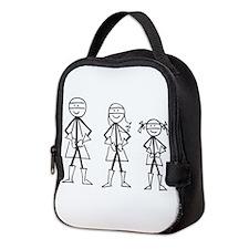 Super Family 1 Girl Neoprene Lunch Bag