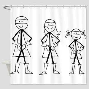 Super Family 1 Girl Shower Curtain