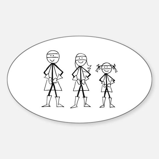 Super Family 1 Girl Sticker (Oval)
