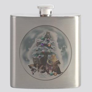 Cat Lovers Christmas Flask