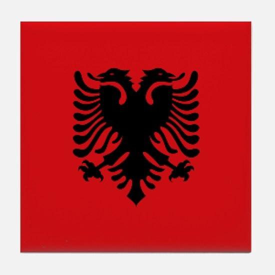 Albanian flag Tile Coaster