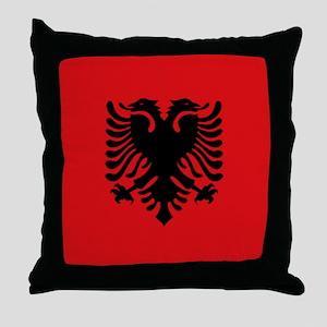 Albanian flag Throw Pillow