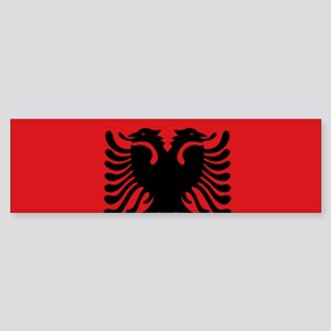 Albanian flag Sticker (Bumper)