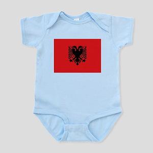Albanian flag Infant Bodysuit