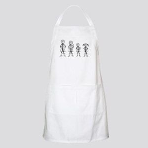 Super Family 1 Boy 1 Girl Apron