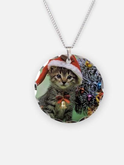 Precious Christmas Cat Necklace