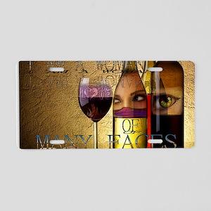 Many Faces Wine Goddess Aluminum License Plate