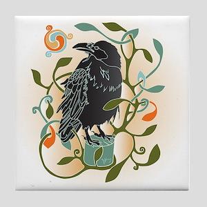 Celtic Crow Tile Coaster