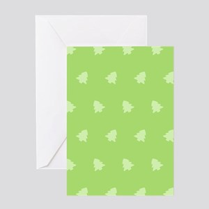Green Christmas Tree Greeting Cards