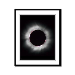 Total Solar eclipse 1999 Framed Panel Print